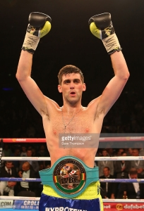 LIVERPOOL, ENGLAND - JUNE 26: Rocky Fielding and Bryan Vera during their WBC International Super Middleweight Championship contest at the Echo Arena on June 26, 2015 in Liverpool, England. (Photo by Dave Thompson/Getty Images)